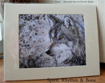 Honor ~ 11x14 Quality Photo Art Print - Ready to Frame - WolfWalking Series by Sonara