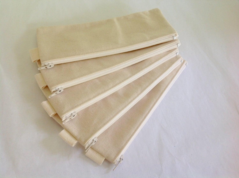 sale plain canvas pencil case fabric bag sturdy coin. Black Bedroom Furniture Sets. Home Design Ideas
