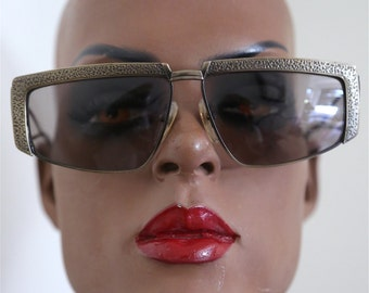Late 1970s 0s 1980s 80s Vintage Designer Sunglasses Retro Mid Century Boho Unique Stylish Eyewear Tortoise Shell Abstract Unique Eye Glasses