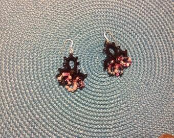 Needle Tatted Earrings