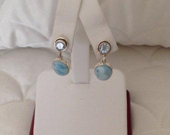 Lovely Larimar Earrings