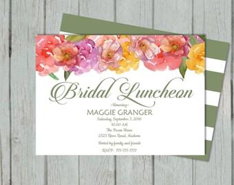 DIY PRINTABLE Bridal Brunch | Customize to  Bridesmaids Brunch Invitation Party | Bridesmaids Luncheon | Tea Party |  Watercolor Flower