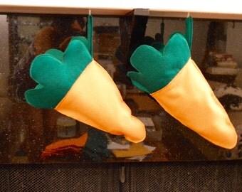 Carrot shaped stocking/gift sack