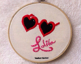 Lolita (Vladimir Nabokov) book cover embroidery hoop/book cover stitching/book lover embroidery