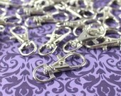 """100 Pack - 1.5"""" Swivel Lobster Clasps - Silver Color - For Keys, Lanyards, and Jewelry - Rotating Clasp Connector - 1 1/2 Inch by 5/8 Inch"""