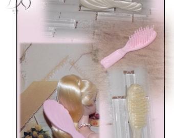 Newly De-boxed Barbie Hair Brush.  Red Barbie Hair Brush, Pink Barbie Brush or Pearl White Barbie Brush. Vintage Doll Hair Brush
