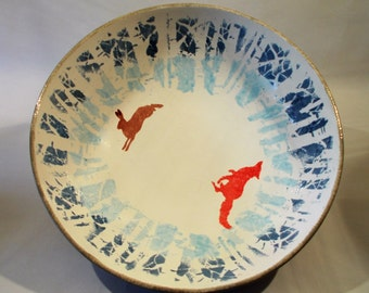 The Fox and the Hare handmade ceramic fruit bowl