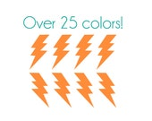 Lightning Bolt Thick Nail Decals - Vinyl, Custom Choice of Color