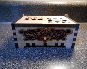 Graffiti and Floral Design Cut Out Pot Pourri Box