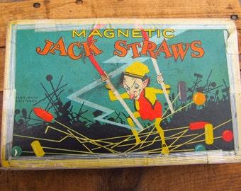 Vintage Magnetic Jack Straws - 1920's - 30's Magnetic Jack Straws Game