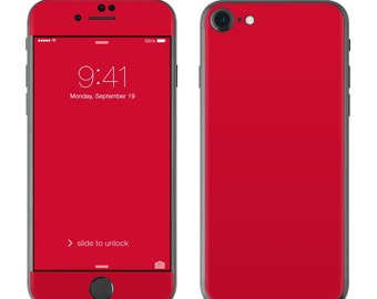 Solid Red - iPhone 7/7 Plus Skin - Sticker Decal