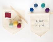 DIY Mini Banner Embroidery and Felt Ball Kit