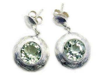 Dazzling Green Amethyst & Sterling Silver Dangle Earring Jewelry Z180