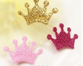 Wholesale lot 120PCS Sequin  crown Patch, Sewing Craft, DIY  applique  hair clip  2x2.9cm
