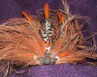 Orange and White feather crown