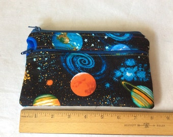 """Galaxy  wet/dry  bag or cosmetic 5"""" x 8"""""""