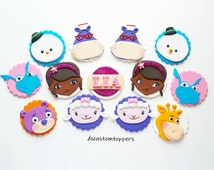 Doc Mcstuffins  INSPIRED fondant cupcake toppers
