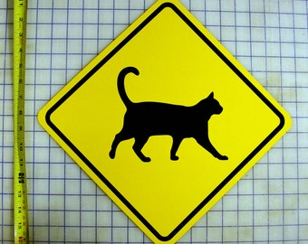 Cat / Kitty Crossing Sign