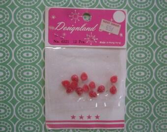 Ladybugs Micro Miniature Plastic Vintage NOS