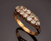 Antique Diamond Ring 18k Gold c1890 Engagement Ring 0.84 carat
