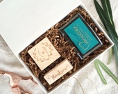 Stamp Set / Gift Set / Personalized Stamp / Stamp Pad / Wedding Stamps / Thank You Stamp / Handlettered Stamp / Monogram Stamp