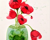 Alcohol ink art. Poppy XX...