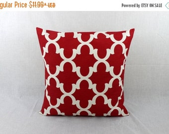 SALE ENDS SOON Red Throw Pillow Cover -   Red Accent Pillow Cover-Pillow Covers 0015