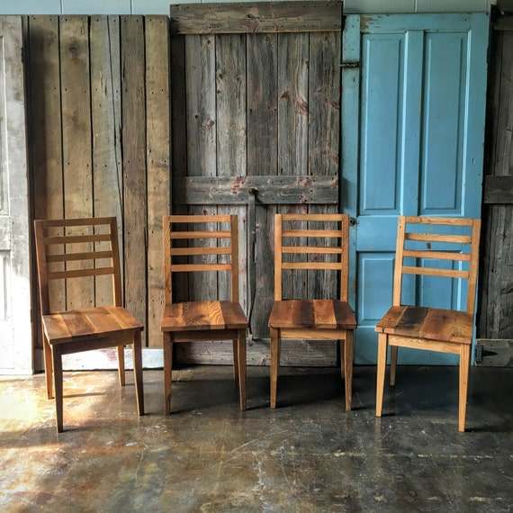 Farmhouse Dining Chairs Reclaimed Wood Dining Chairs By Wwmake