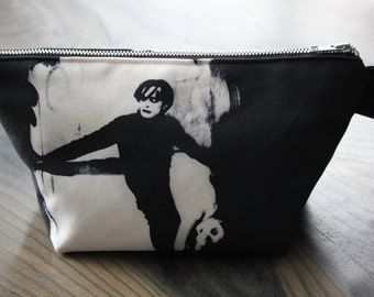 cabinet of dr. caligari - lined canvas zippered pouch - german expressionist silent film