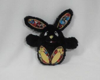Bunny Rabbit Superhero Stuffed Toy/ Stocking Stuffer/ Stuffed Animal/ Plushie/ Bunny Softie/ Bunny Peekaboo/ Reversible/ Peekaboo Rabbit