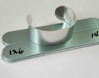 1 x 6 -  14 Gauge Bracelet Blanks -Aluminum cuff bracelet blanks- Easy to use  - Protective film both sides