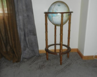 "Cram's IMPERIAL World Globe on a Wooden Floor Stand -  34"" Tall"