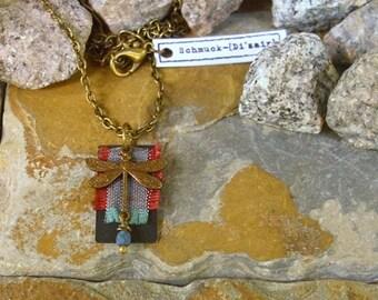 "Necklace ""Odonata"" - vintage bronze - unique"