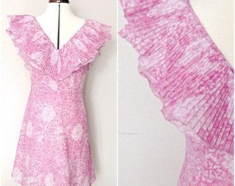 1970's Floral Summer Dress