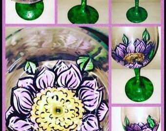 Flower Wineglass