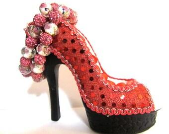 Pink Rhinestone Bracelet Set
