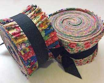 2.5 inch Vintage Floral Shabby chic light jelly roll cotton fabric quilt strips