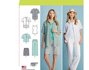 Simplicity 1203 bb, Simplicity Sewing Pattern 1203 bb, Misses' Sportswear Pattern, FREE SHIPPING, Sizes 20w-28w