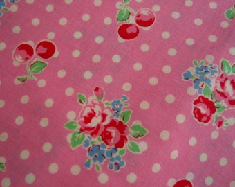 Japanese LECIEN Flower Sugar pure cotton fabric pink roses cherries