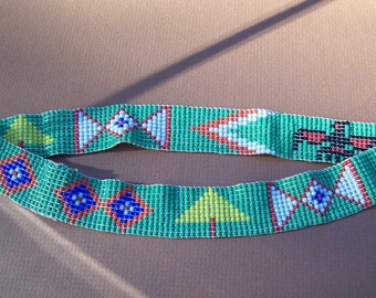 Native American (Cherokee) Handbeaded headband.