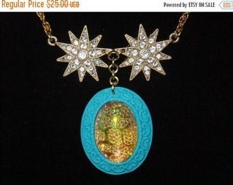ON SALE Jeweled Starburst Necklace