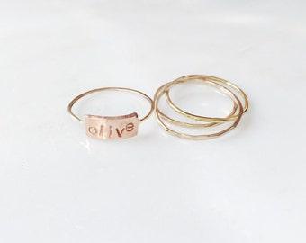 Stamped Ring Stack
