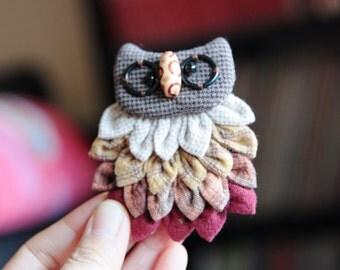 Owl brooch(handmade)