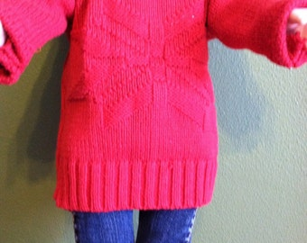 """Upcycled Knitted Sweater for 18"""" doll"""