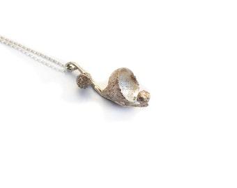 Acorn cup necklace pendant