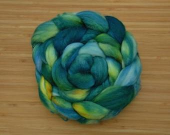 Unspun Roving - Merino/Silk blend - 100 grams/3.5 ounces - Shire