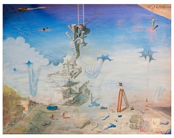 Original Art Print, Modern Art Print, Psychedelic Artwork, Sacred Geometry Landscape Painting