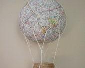 MAP hot air balloon , Nursery Decor, Children Mobile, Custom Mobile, Party decor,Baby shower decor,Handmade Hot Air Balloon Mobile