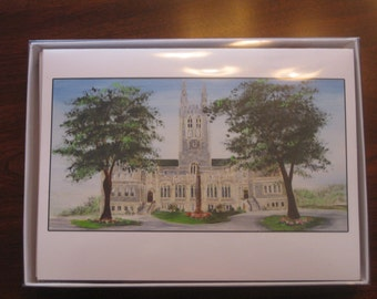"Boston College - Gasson Hall Blank Gift Card  5"" x 7"""