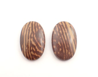 2 Jasper cabochons - 14gm / 34-35mm (1832)